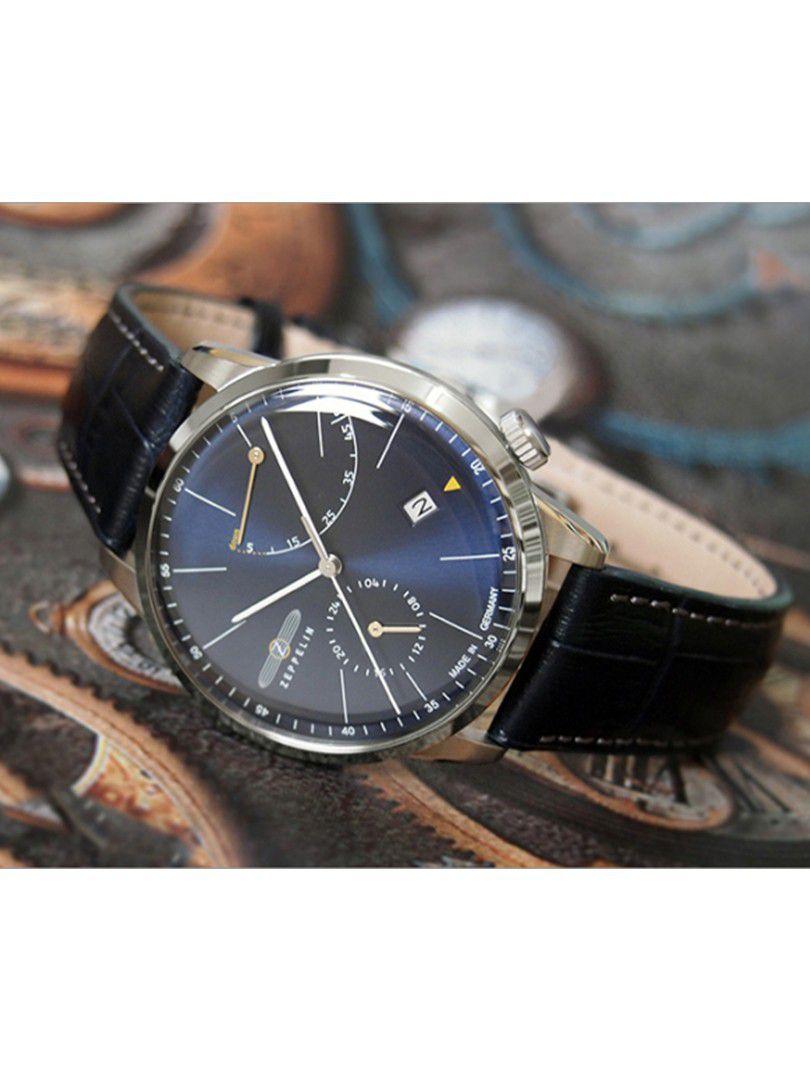 zeppelin flatline power reserve automatic horloge73663 2