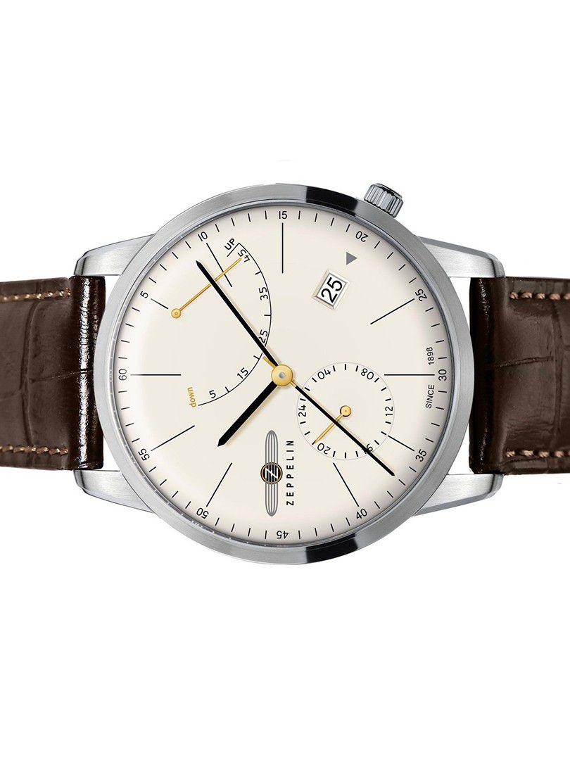 zeppelin flatline power reserve automatic horloge73665 3