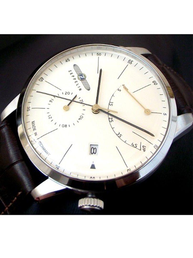 zeppelin flatline power reserve automatic horloge73665 4