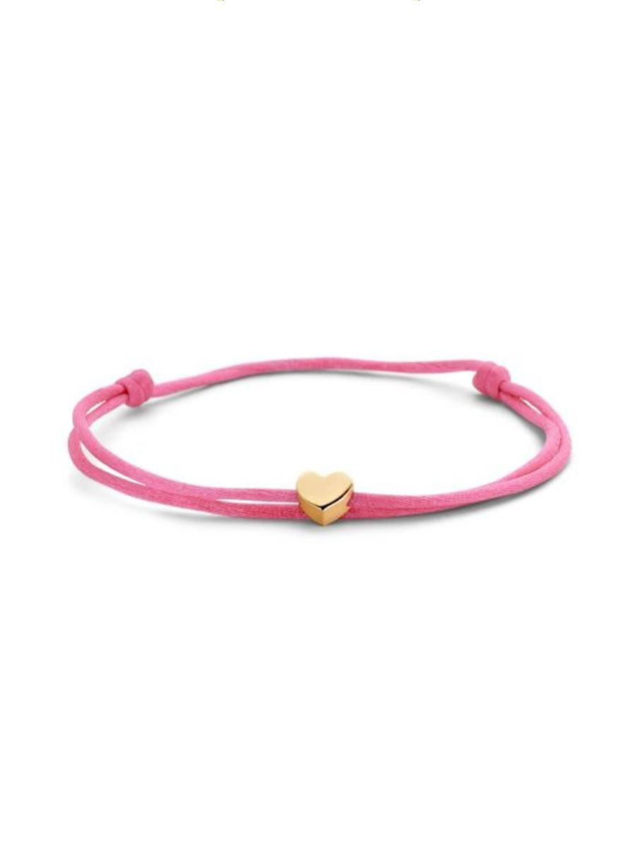 just franky capital bracelet cord heart