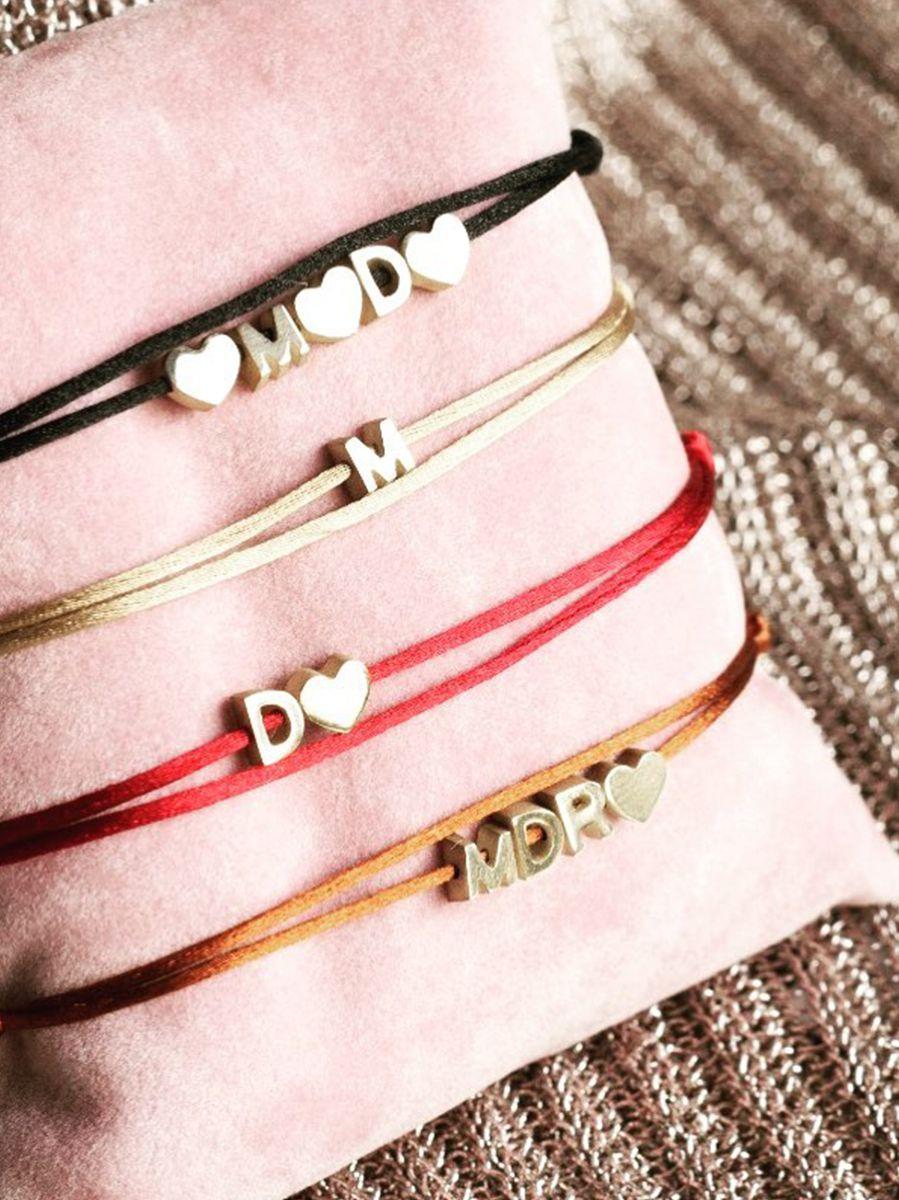 just franky capital bracelet cord heart 2