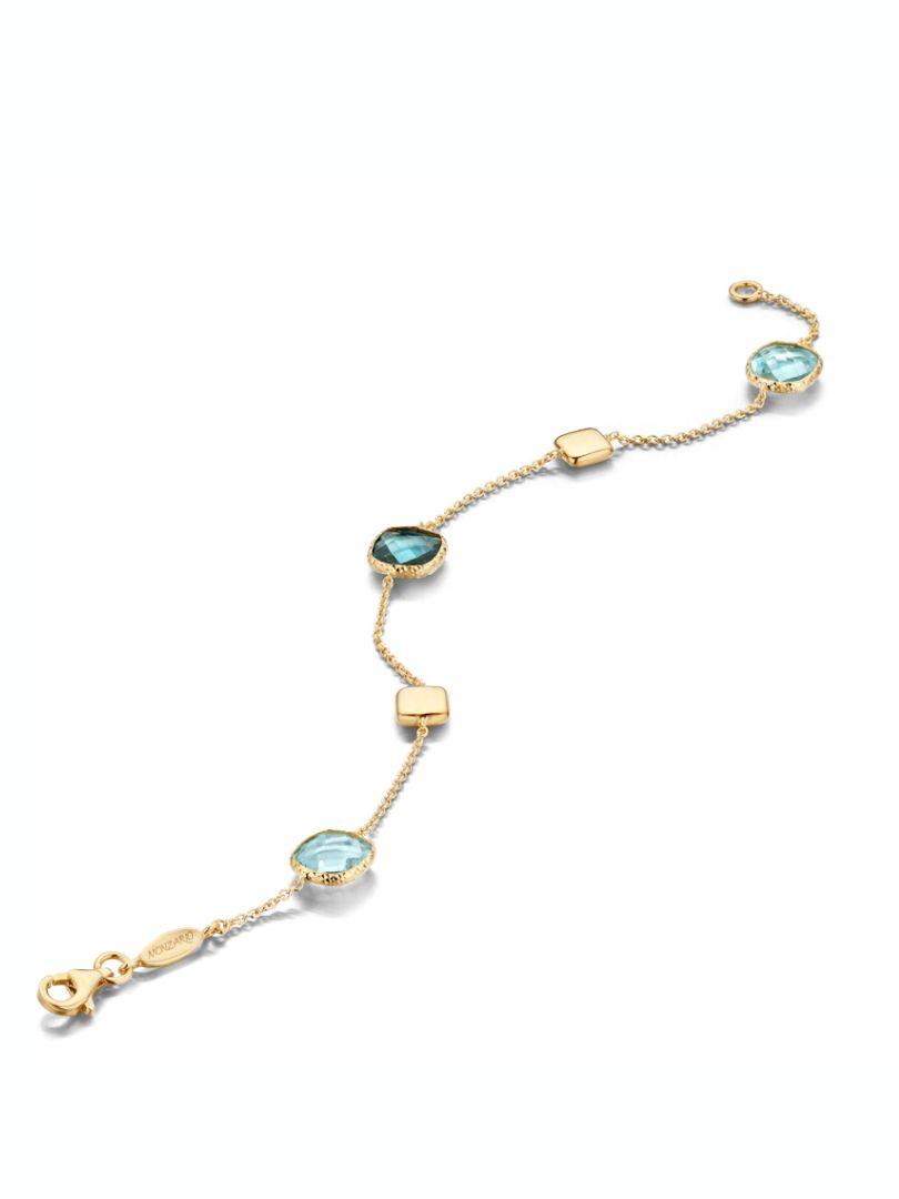 gouden armband met topaas