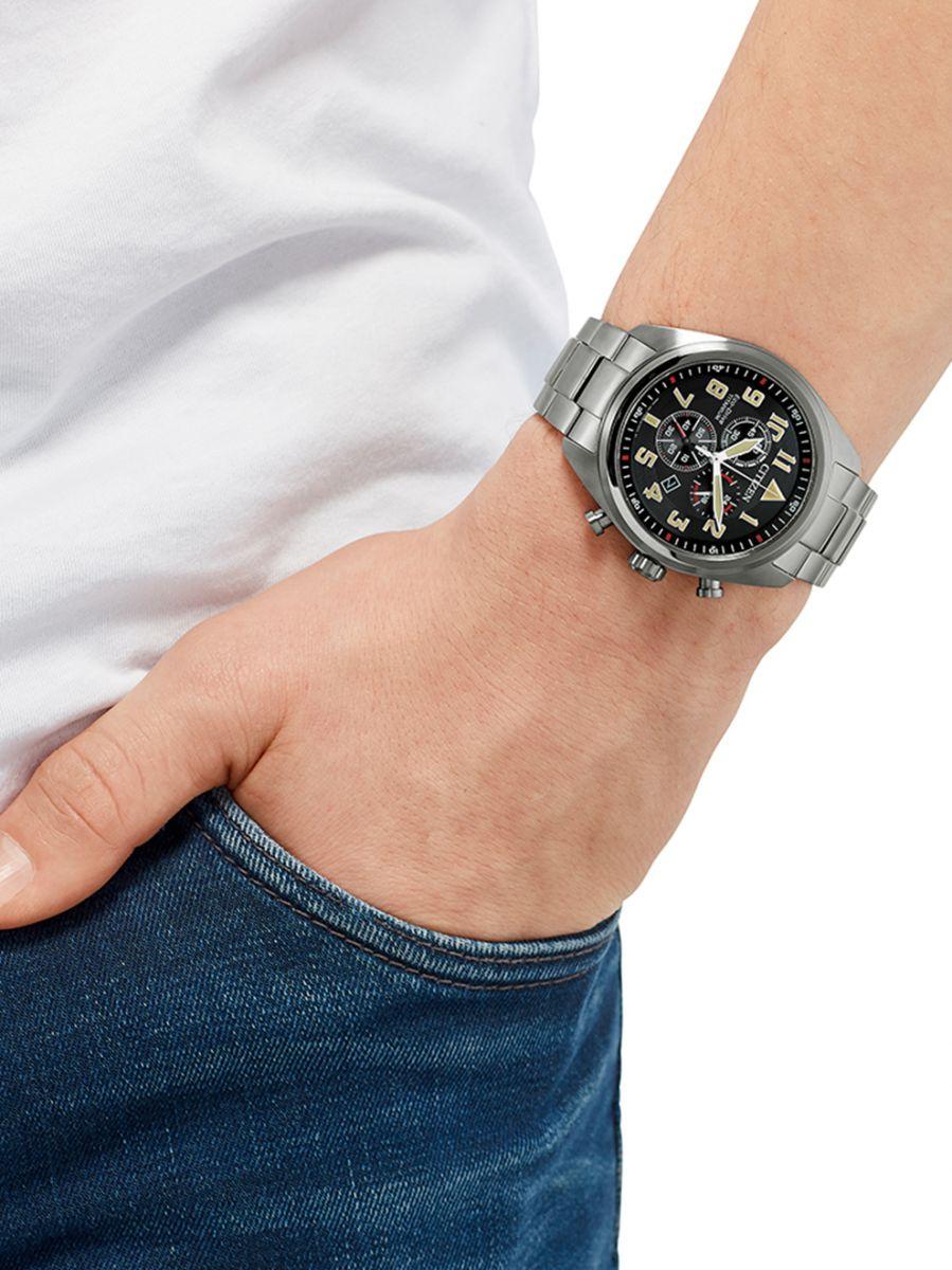 citizen titanium field chronograph horlogeat248081e 2
