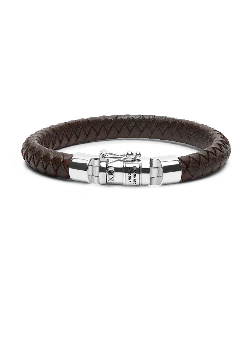 buddha to buddha ben small leather brown armband 180br 1