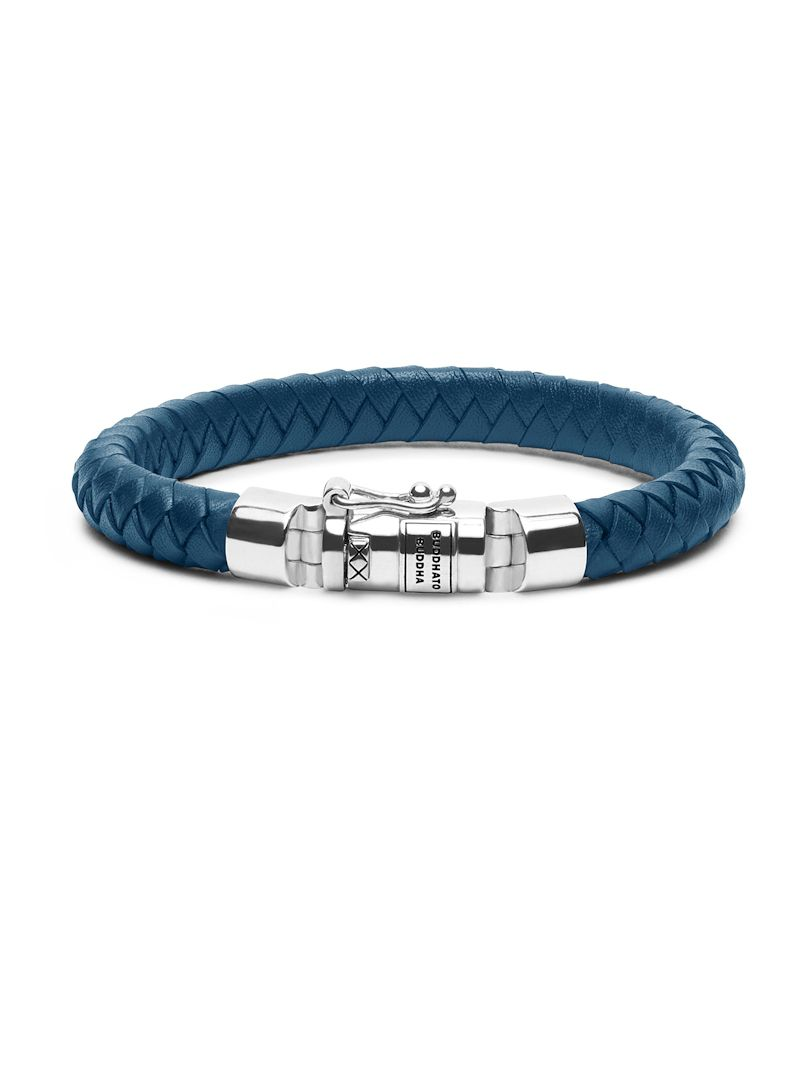 buddha to buddha ben small leather blue armband 180bu