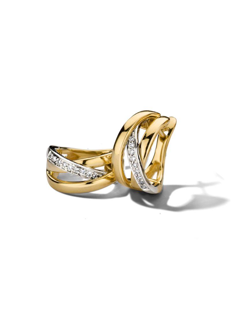 bicolor gouden creolen briljant 012 crt