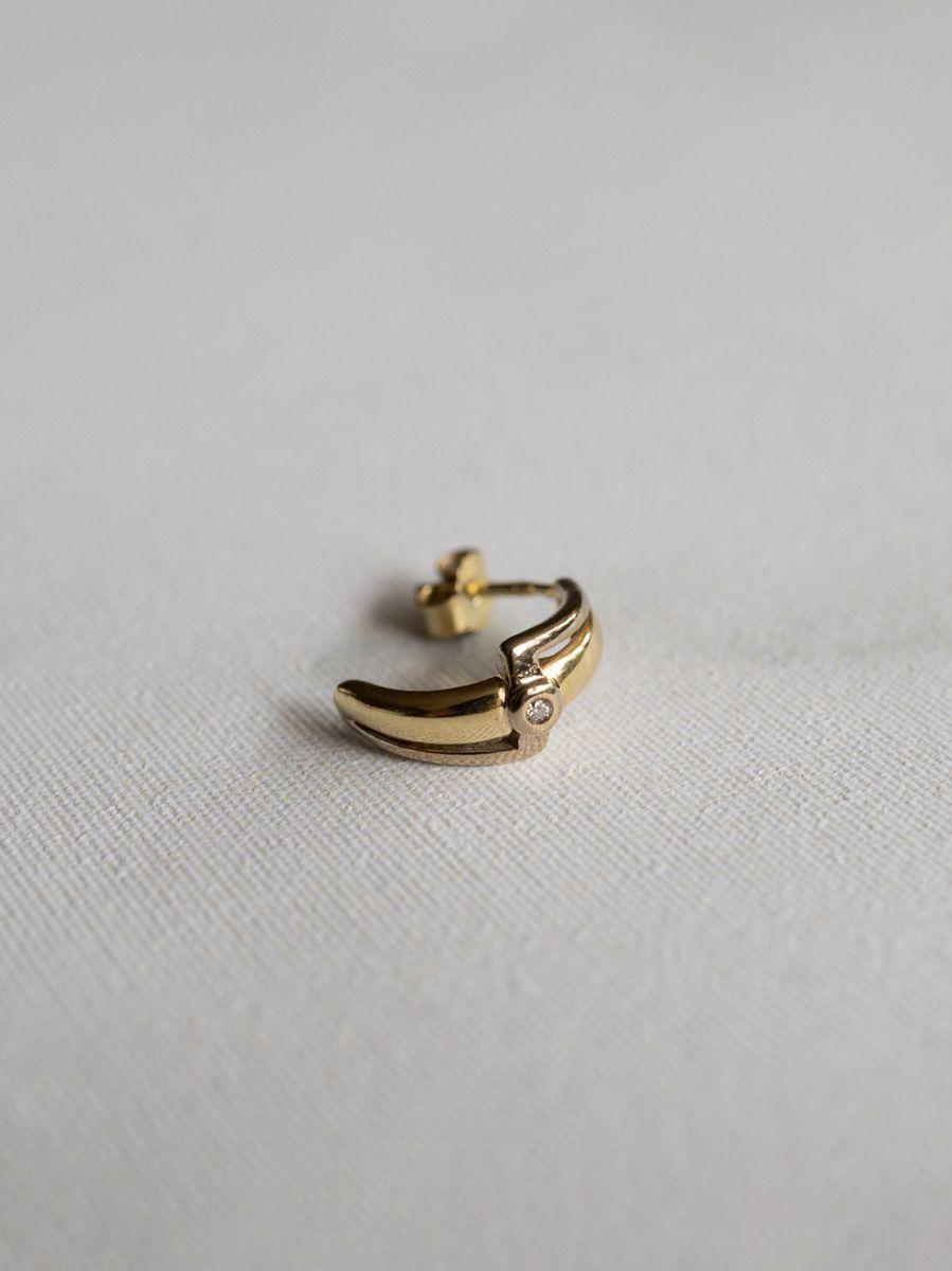 bicolor gouden oorstekers diamant