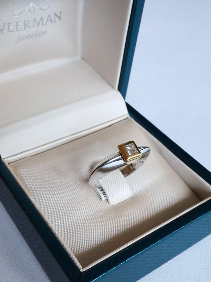 bicolor gouden ring princess diamant