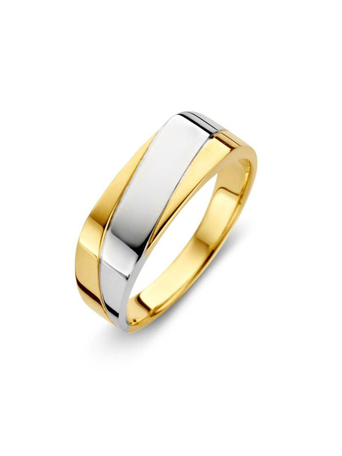 bicolor herenring goud 1