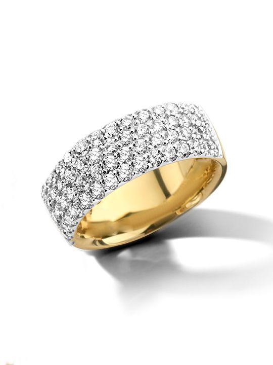 gouden bicolor ringpav briljant172crt