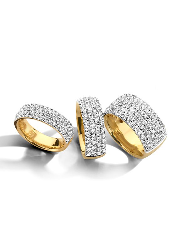 gouden bicolor ringpav diamant 172crt