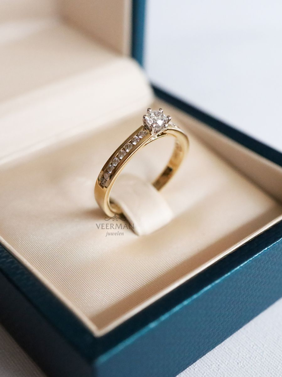 bicolor ring met briljant 050crt 2