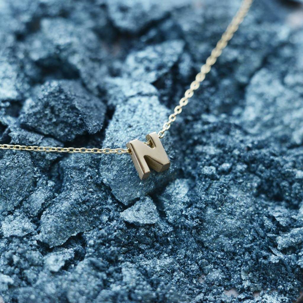 just franky capital necklace