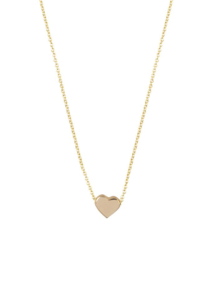 capital heart necklace