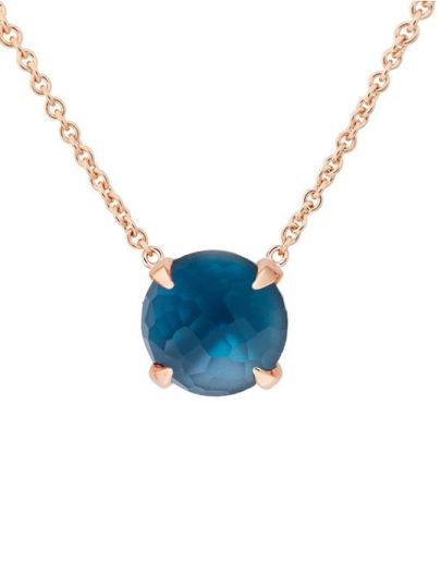 Catch collier met London Blue Topaas