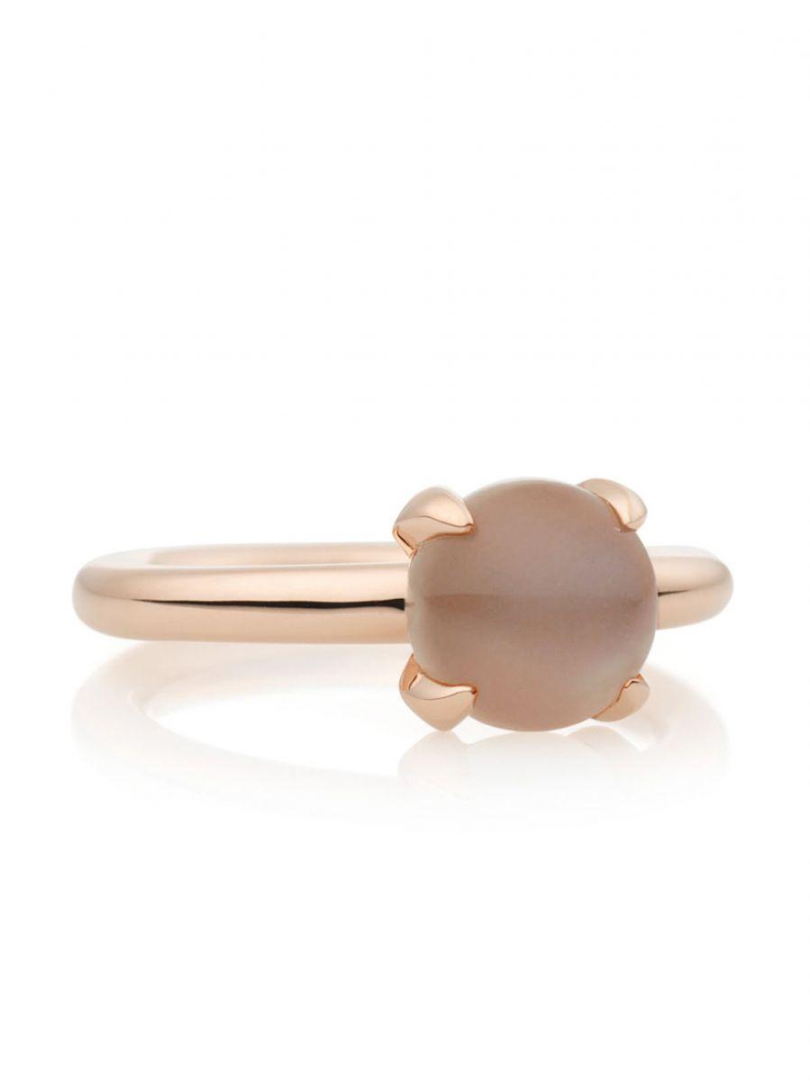 catch ring met bruine maansteen