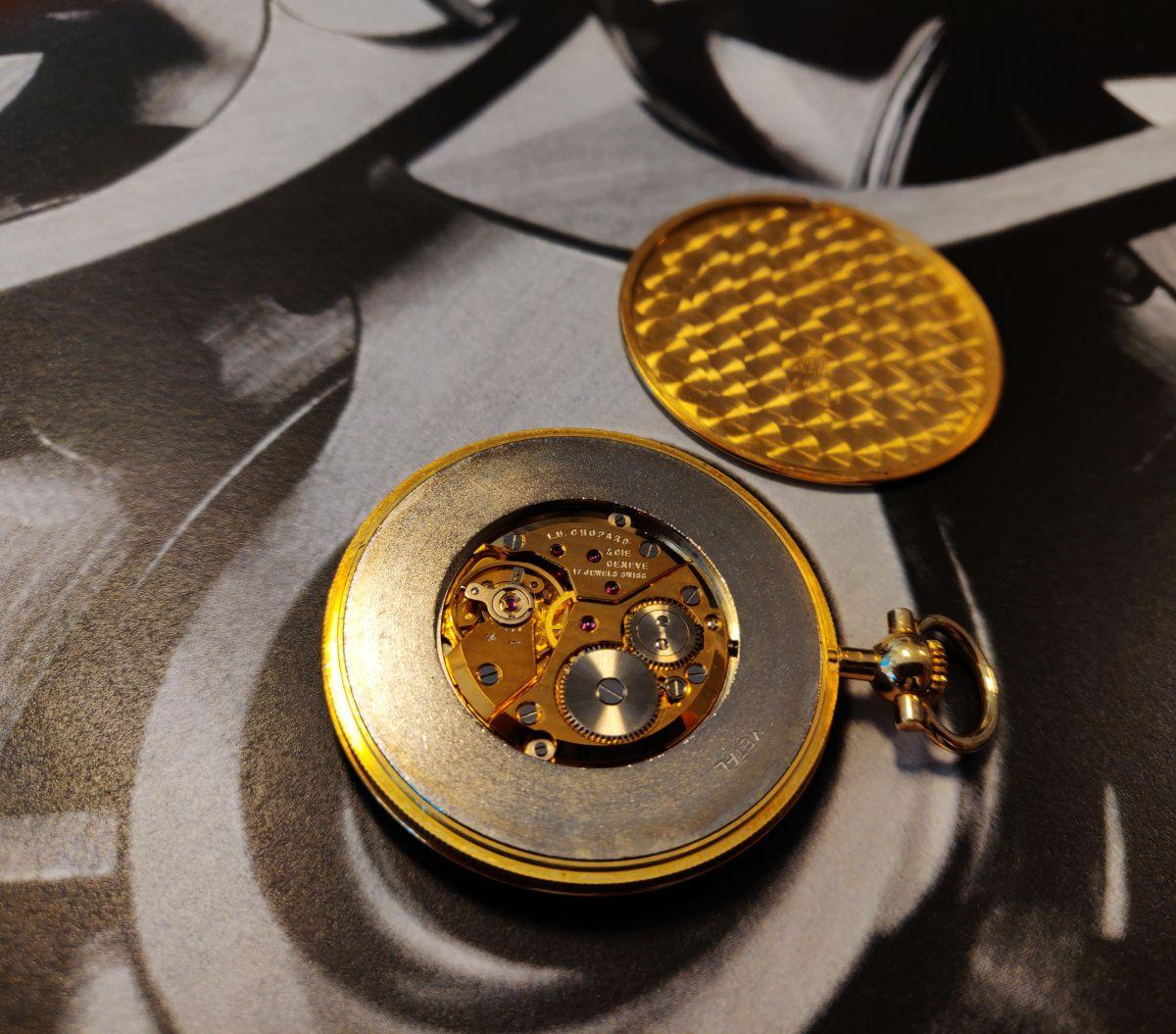 gouden chopard zakhorloge 18k 3