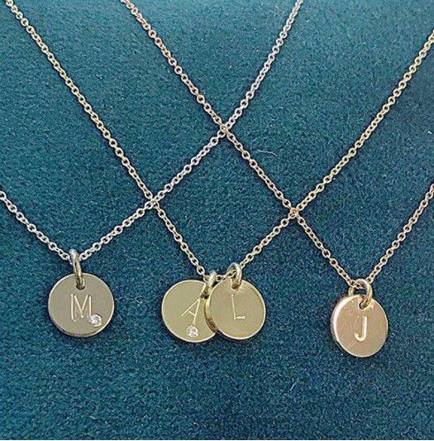 coin necklace 1 diamond coin