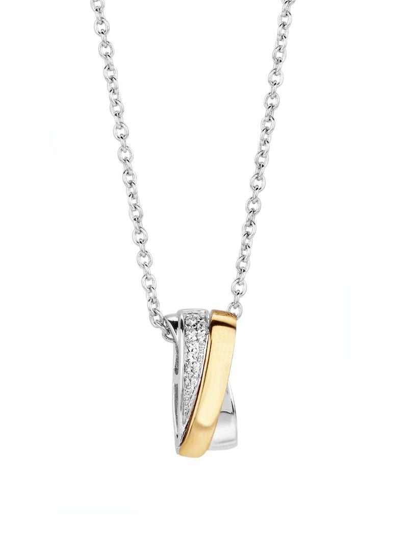 collier zilver met goud