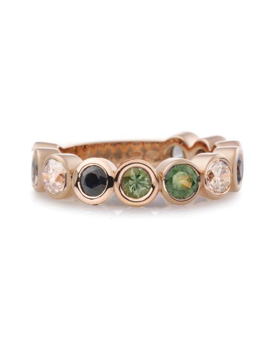 bron confetti ring met kleursteen 8rr4707kiwi