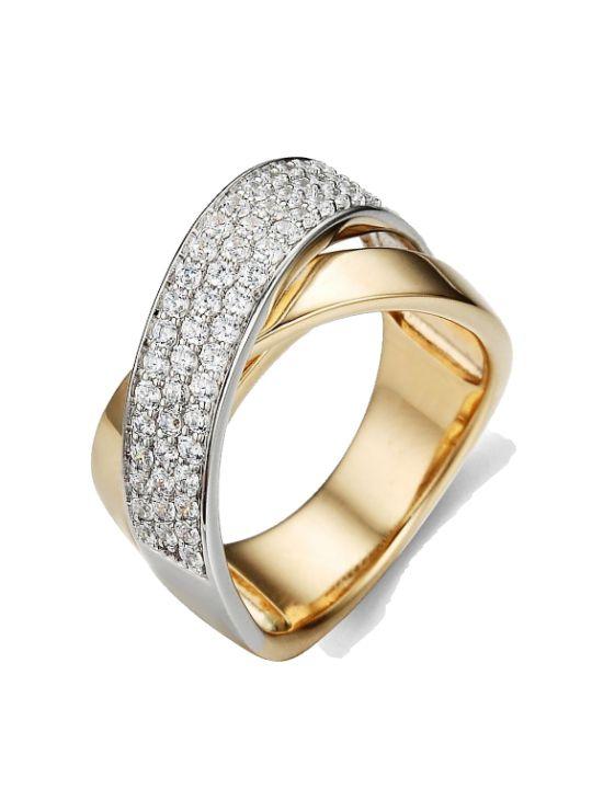 crossover ring met briljant