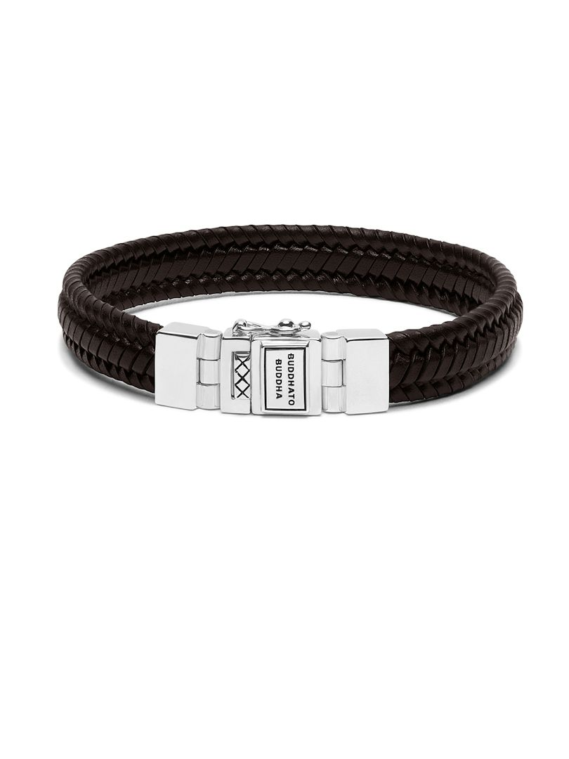 buddha to buddha edwin small leather brown armband