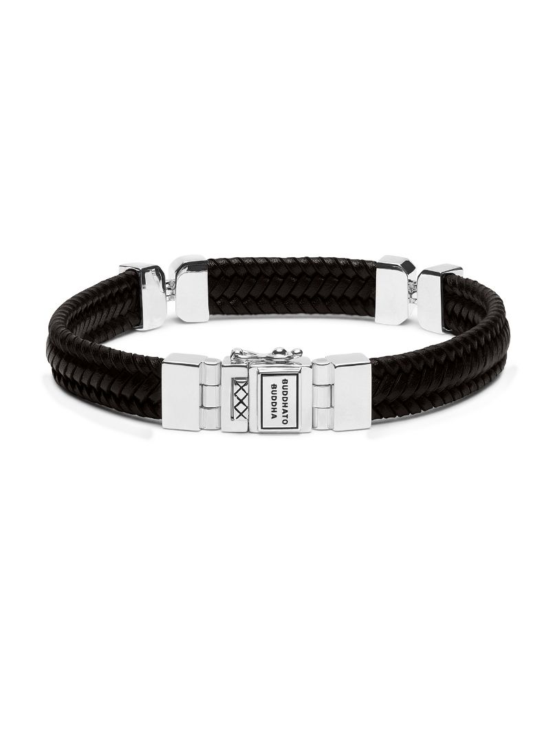 buddha to buddha edwin small special leather brown armband 182br