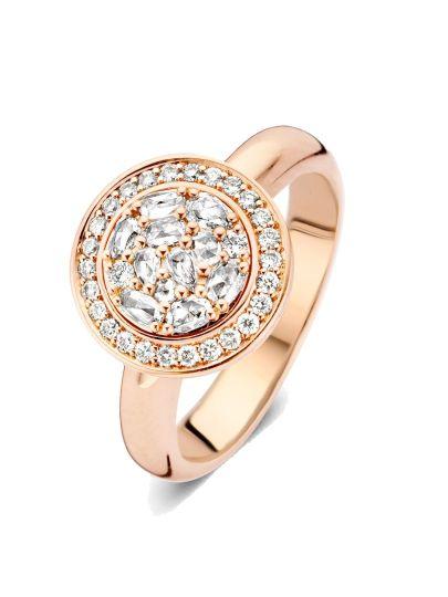 Entourage ring met roos diamant