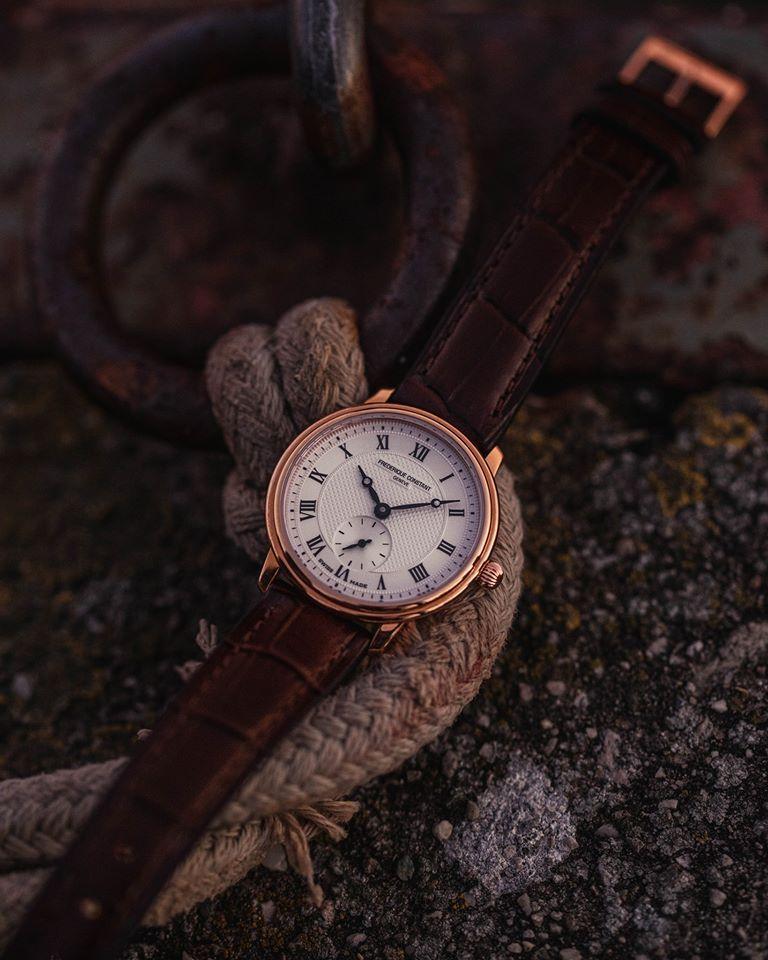 fc235m4s4 frederique constant slimline gentssmall secondsherenhorloge 2