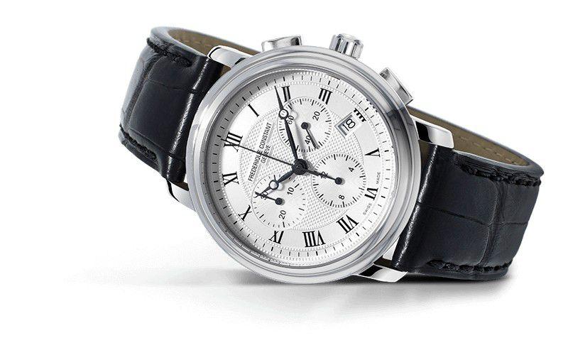 fc292mc4p6 frederique constant chronograph quartz horloge