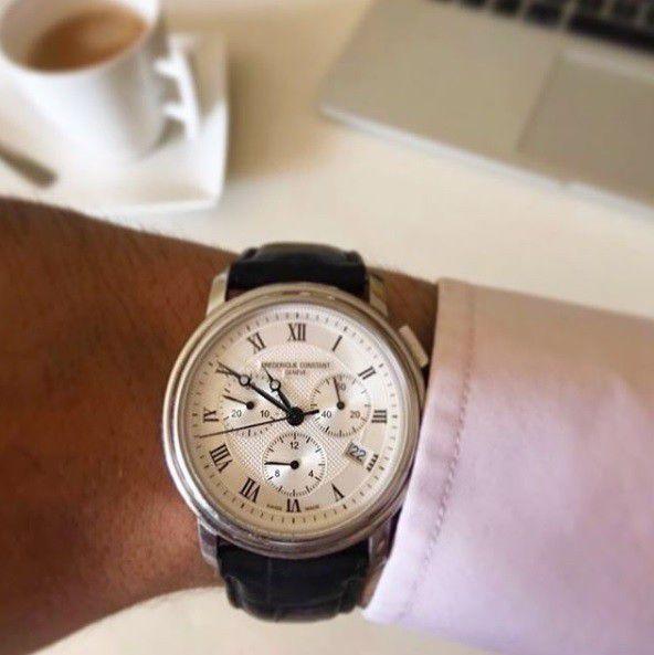 fc292mc4p6 frederique constant chronograph quartz herenhorloge