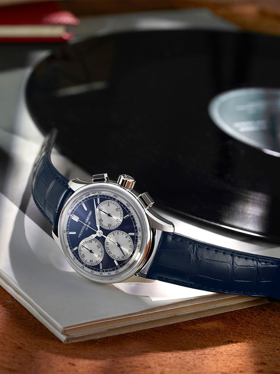 frederique constant flyback chronograph herenhorloge fc760ns4h62