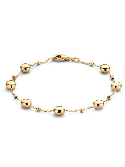 Geelgouden armband met bolletjes