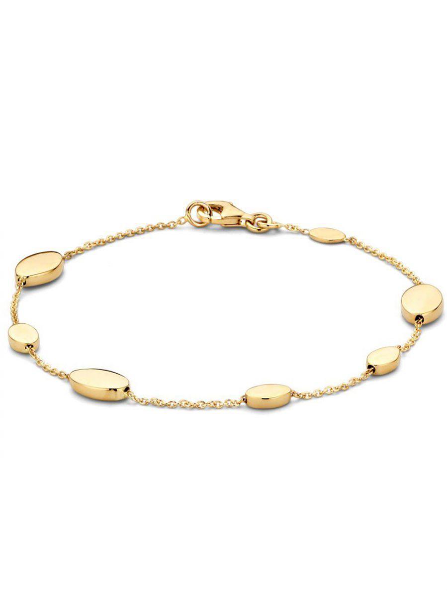 geelgouden armband met ovaal