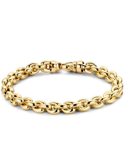 Geelgouden armband met ronde schakel