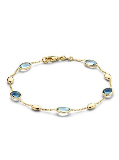 Geelgouden armband met topaas