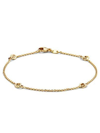 Geelgouden armband met tussenschakels