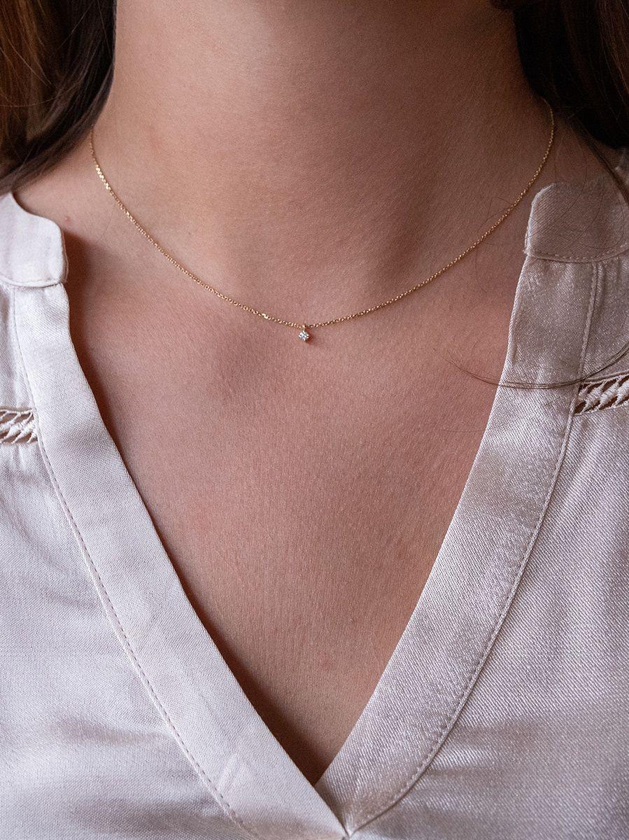 geelgouden colliermet diamant 005crt 41 43 45 cm 2