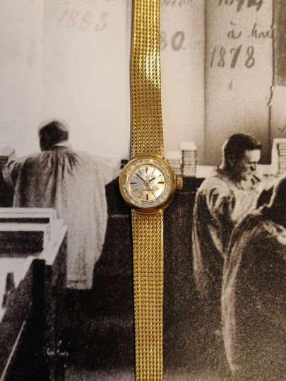 Geelgouden dameshorloge Vintage Omega 14K