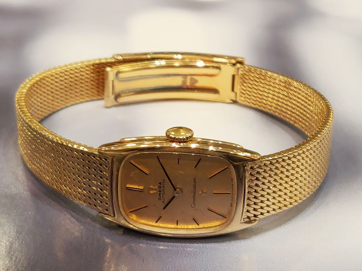 vintage omega constellation dameshorloge 18karaat 8