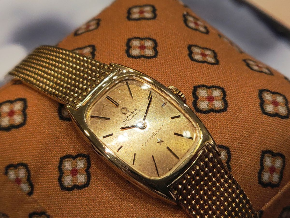vintage omega constellation dameshorloge 18karaat 2
