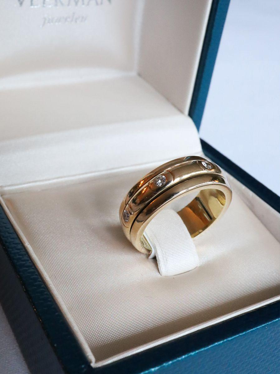 geelgouden piaget ring briljant