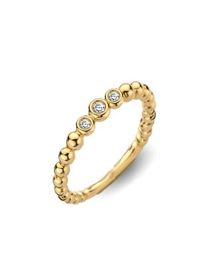Geelgouden Ring Briljant 0,06 Crt