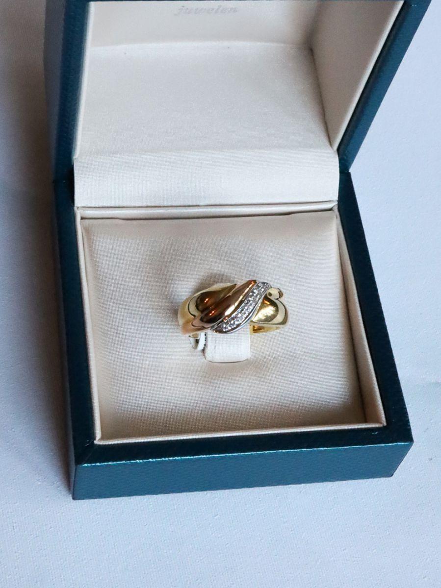 geelgouden ring briljant