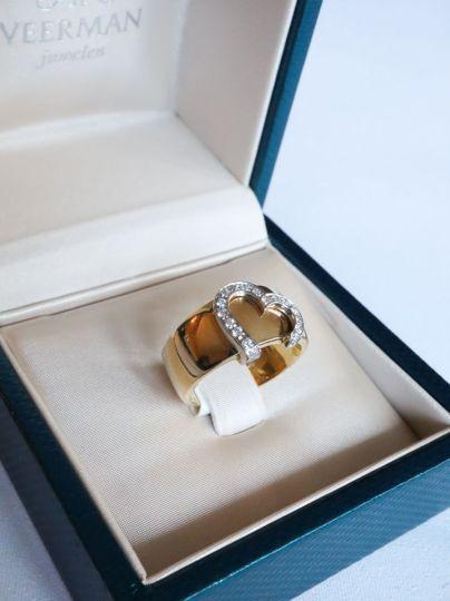 Geelgouden Ring Briljant Hart