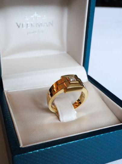 Geelgouden Ring Caré Diamant