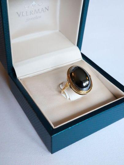 Geelgouden Ring Hemathiet