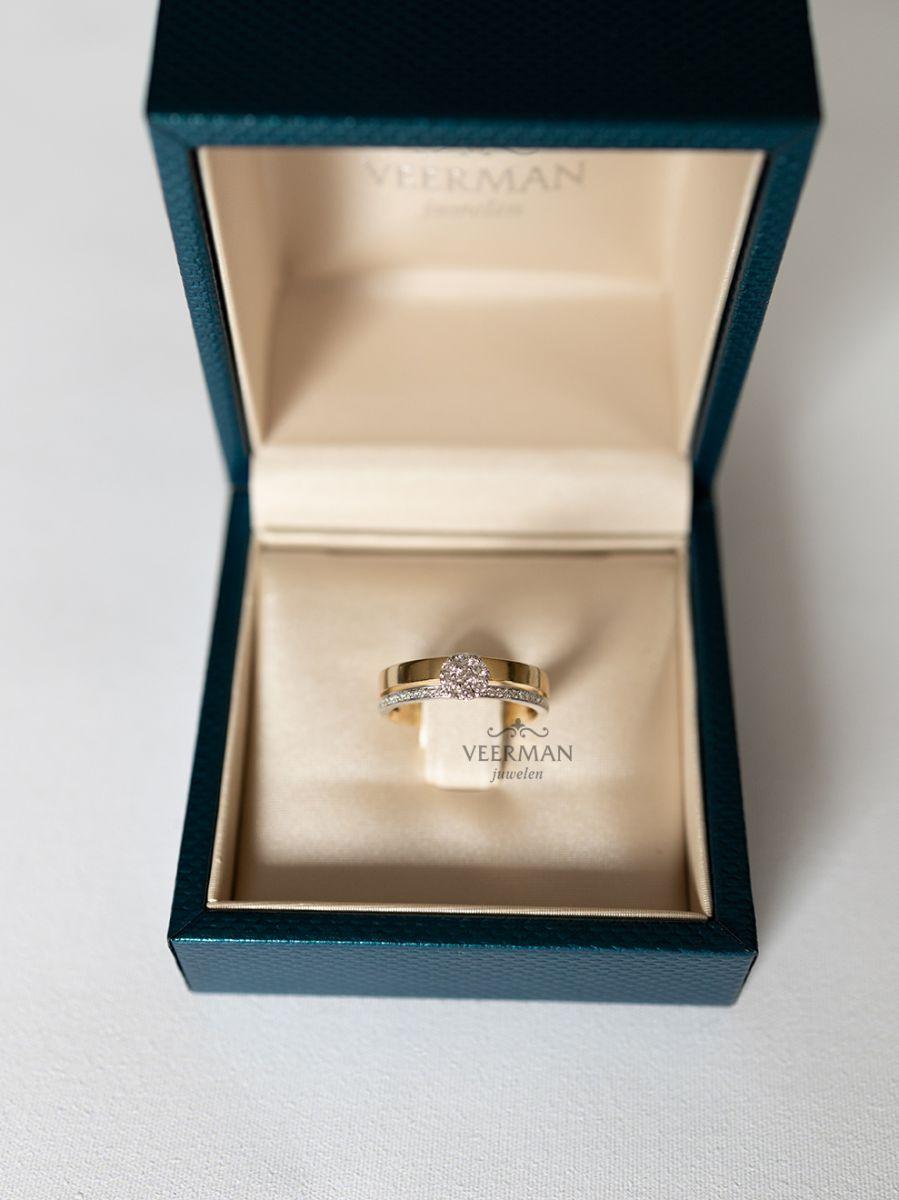geelgouden ring met briljant 3