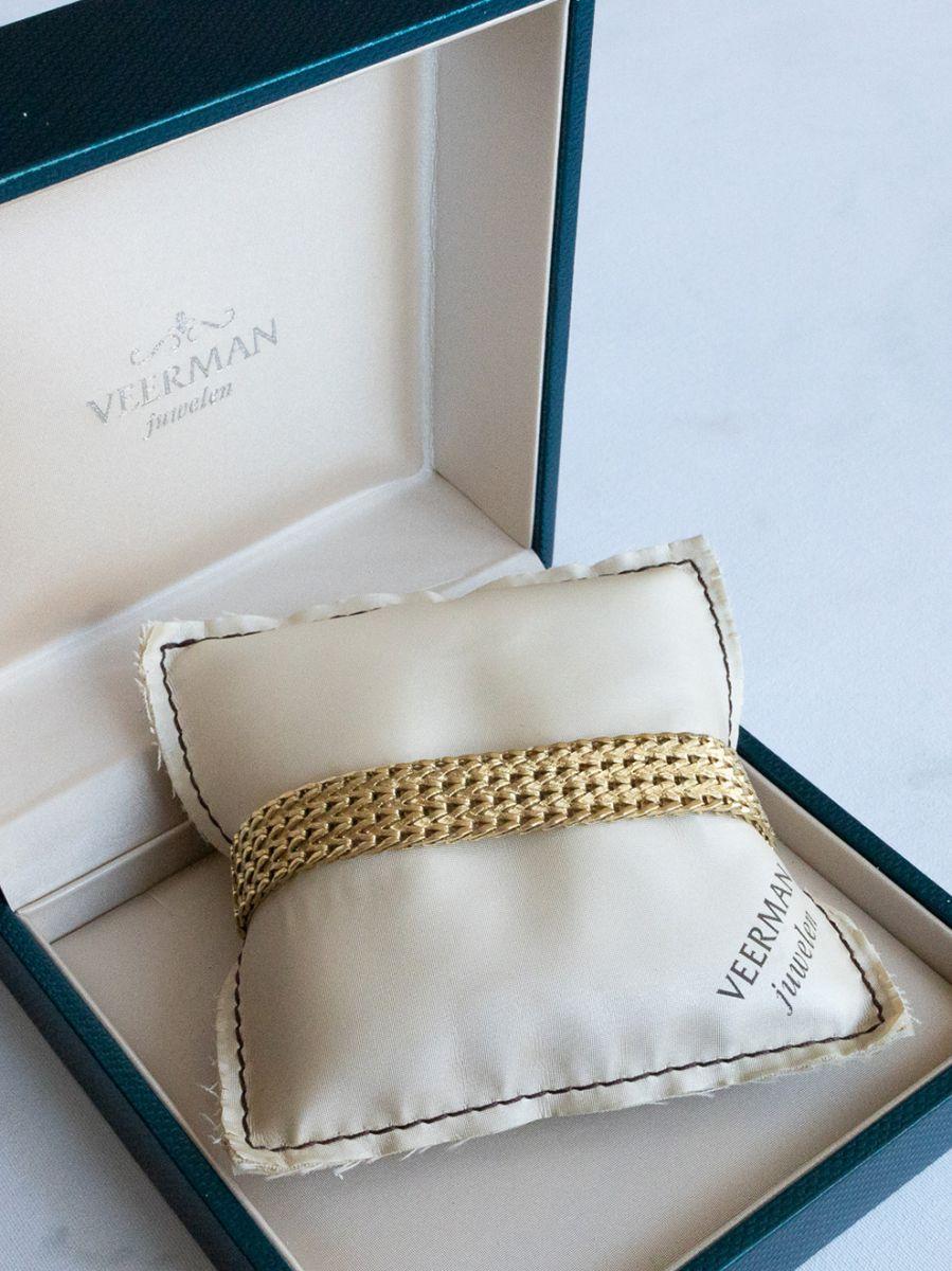 geelgouden vintage armband