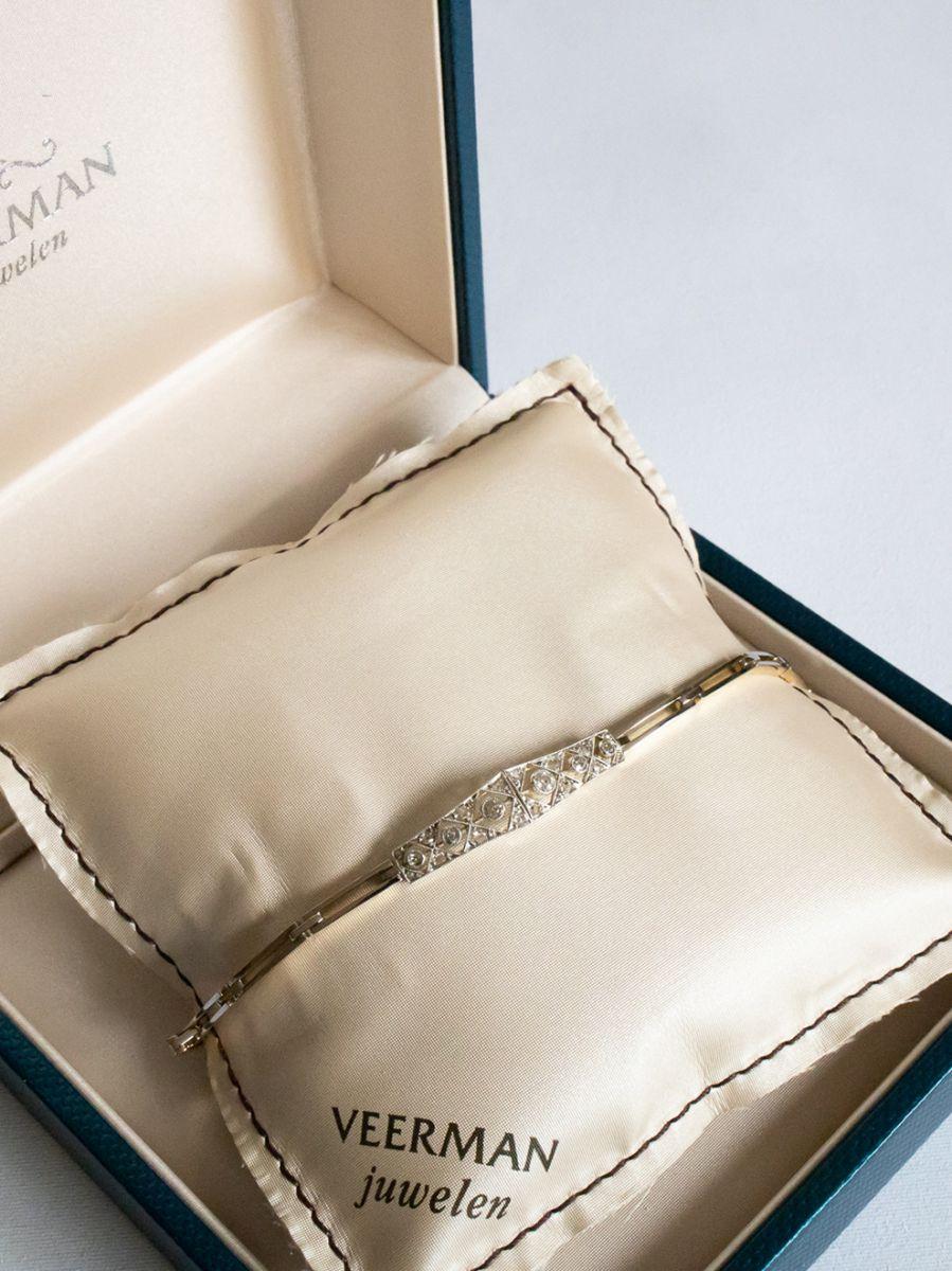 geelgouden vintage armband diamanten